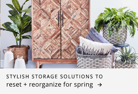 Stylish storge solutions to reset & reorganize for spring