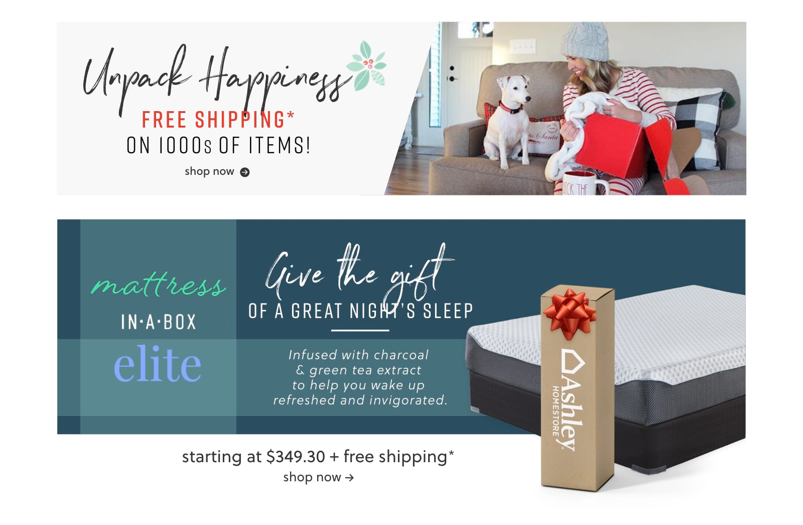Free Shipping Deals on Furniture, Mattress in a Box