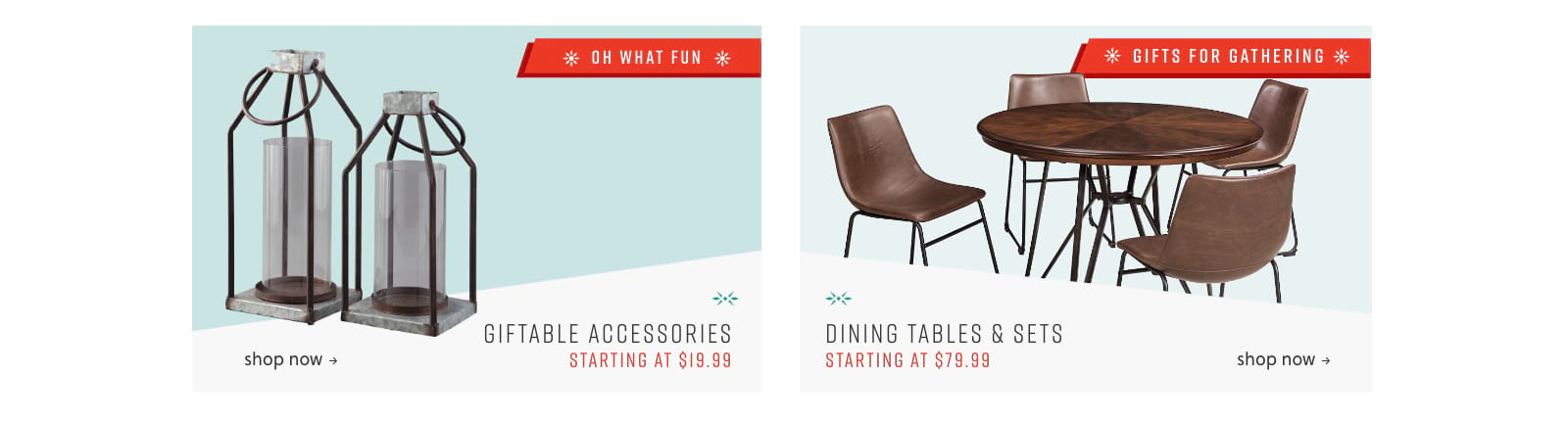 Giftable Accessories, Dining Tables and Sets