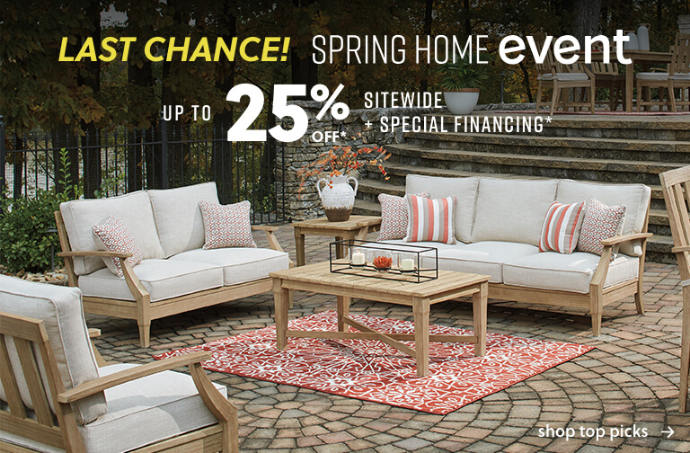 Spring Home Event up to 25% off* sitewide