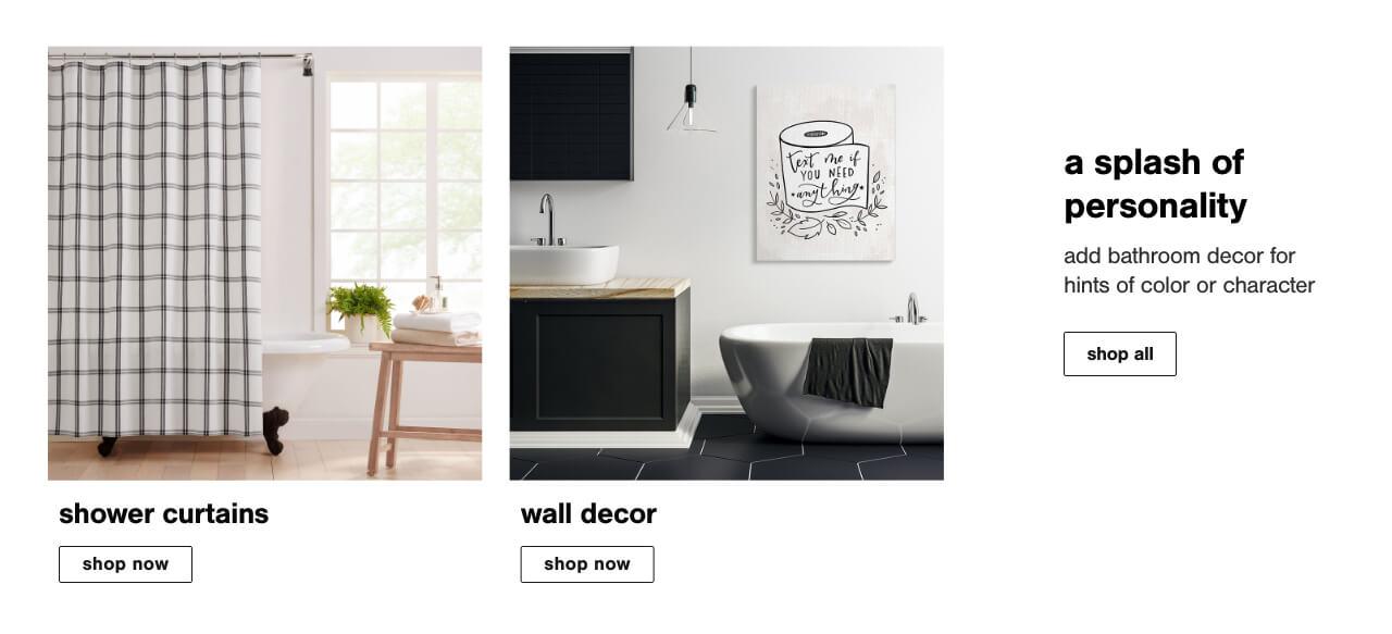 Bathroom Wall Decor, Shower curtains