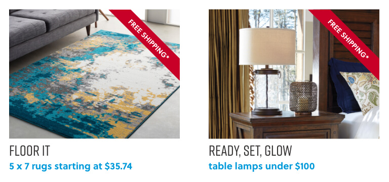 Rugs, Table Lamps