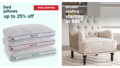Accent Seating Starting at $89.99, Bed Pillows Up to 25% off + Free Shipping
