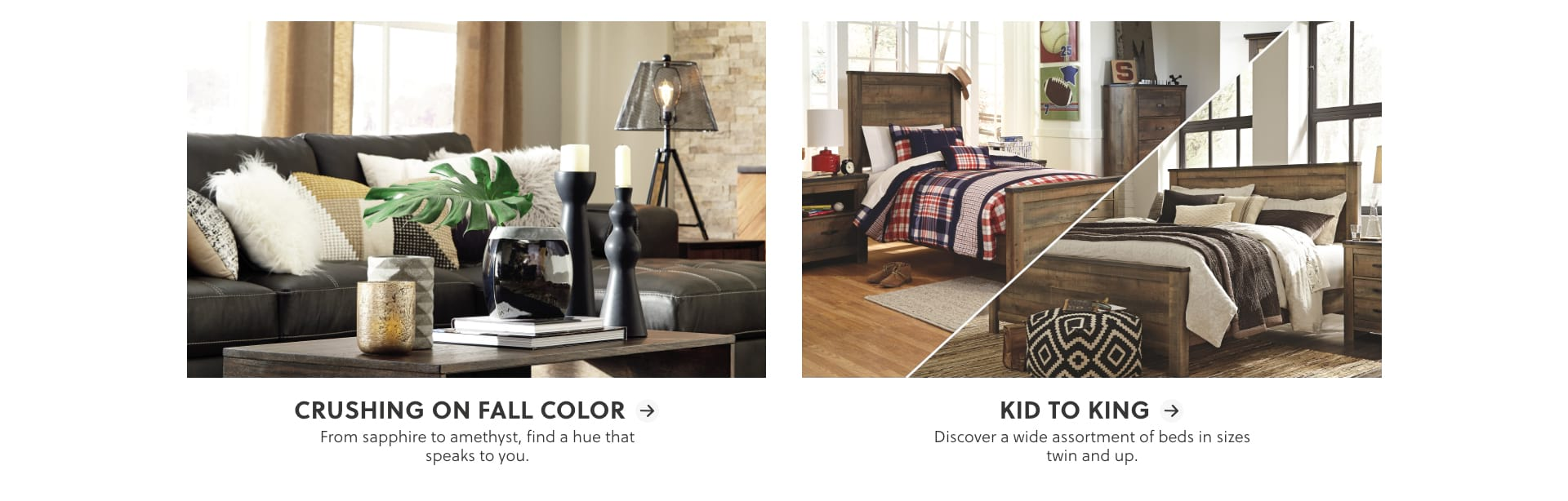 Fall Color Furniture, Beds in every size