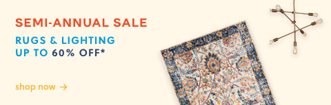 Rugs & Lighting up to 60% off
