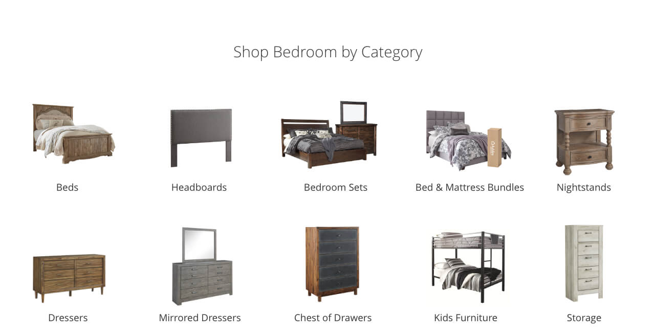 Bedroom Beds, Headboards, Bedroom Sets, Bed and Mattress Sets, Nightstands, Dressers, Mirrored Dressers, Chest of Drawers, Kids Bedroom, Storage