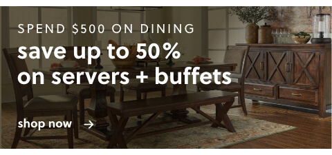 Spend $500 or more on Dining and Get up to 50% off Dining Servers/Buffets