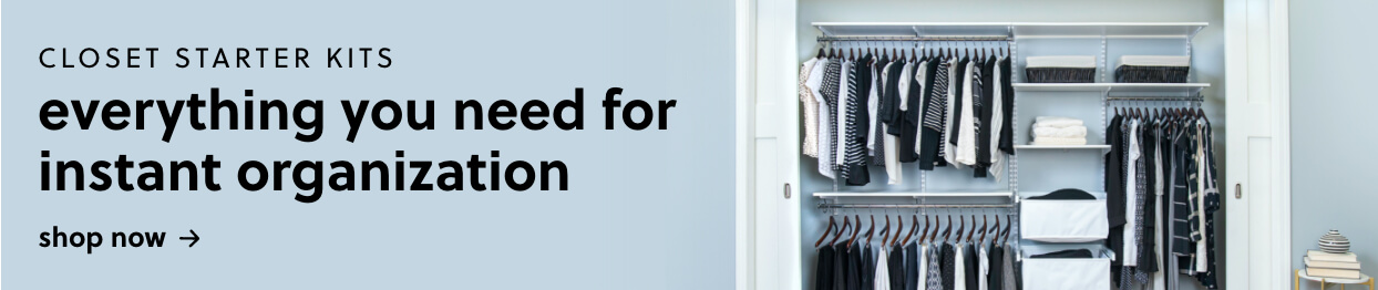 Closet Starter Kits - Everything You Need for Instant Organizational Bliss