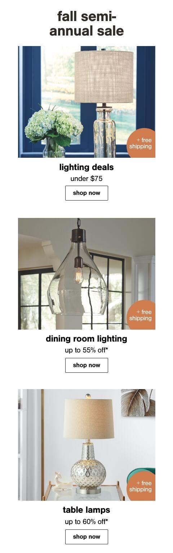 Lighting Deals, Lamp Sets, Best Selling Lamps