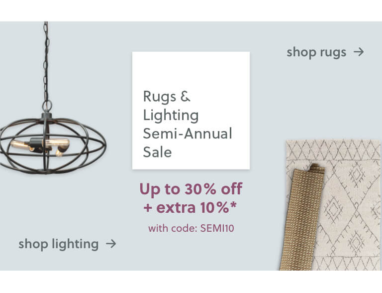 Lighting, Rugs