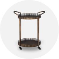 bar carts + cabinets