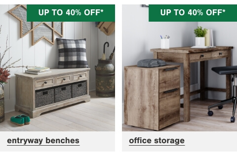 Entryway Benches Up To 40% Off , Office Storage up to 40% Off