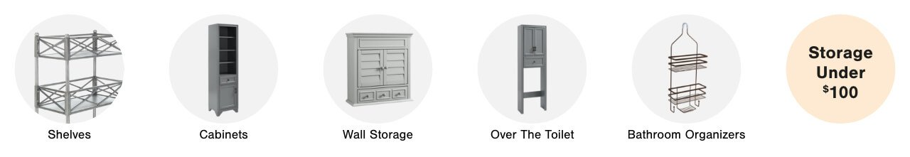 Bathroom Shelves,Bathroom Cabinets, Wall Storage, Over the Toilet Storage,Bathroom Organizers,Storage Under $100