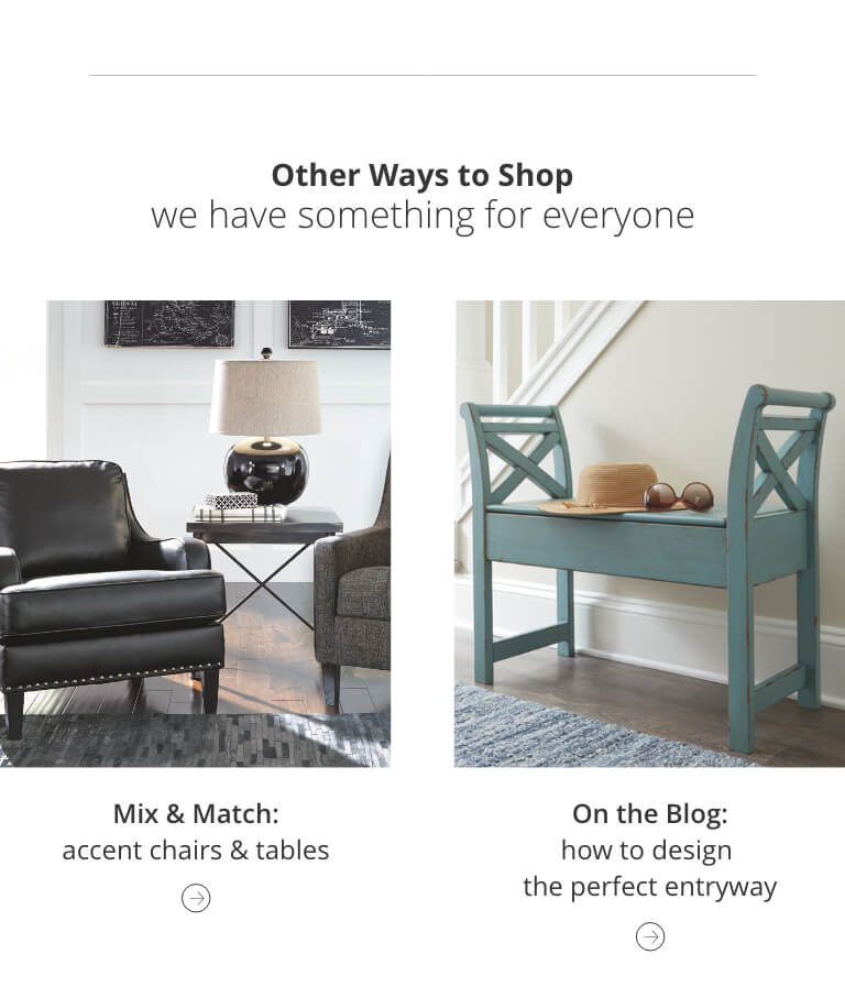 Mix and Match Accent Furniture, How to design the perfect entryway