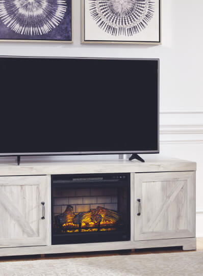 TV Stands Compatible with Fireplaces