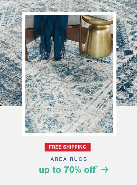 Up to 70% Off* Select Rugs + Free Shipping