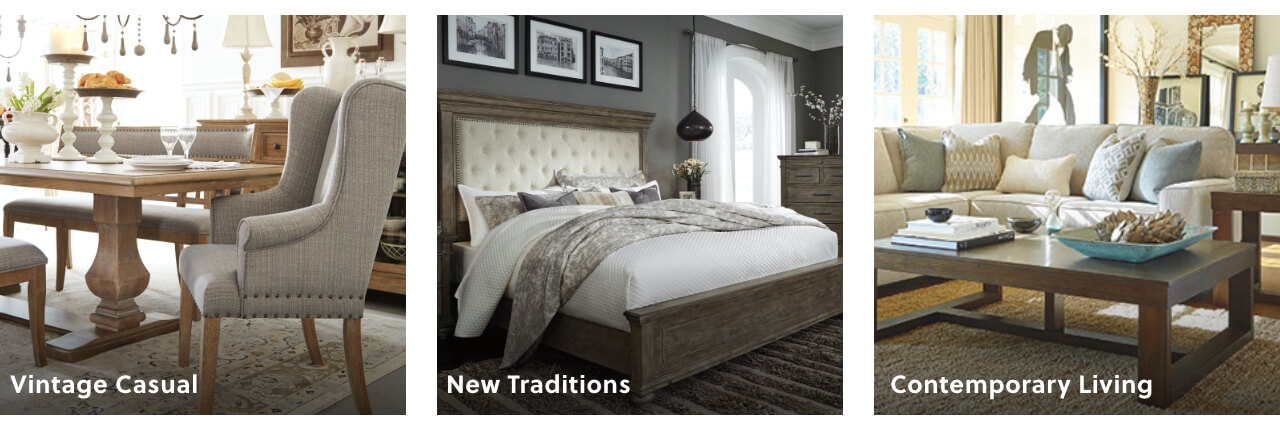 Vintage Casual, New Traditions, Contemporary Living