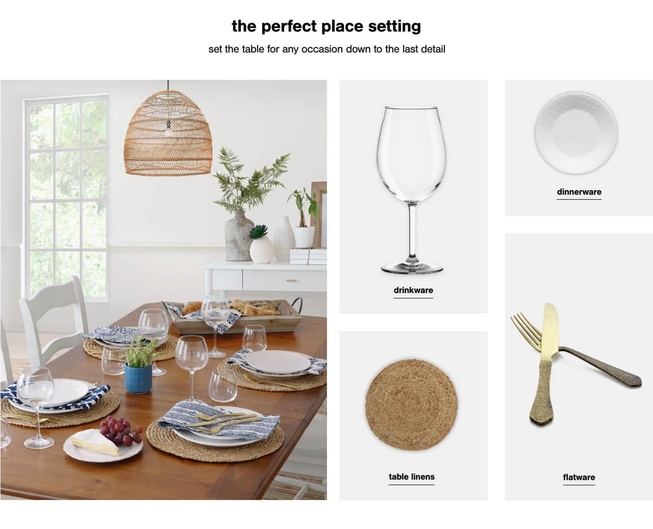 dinnerware under $100,Table Linens Under $100,Flatware  under $100,Drinkware under $100