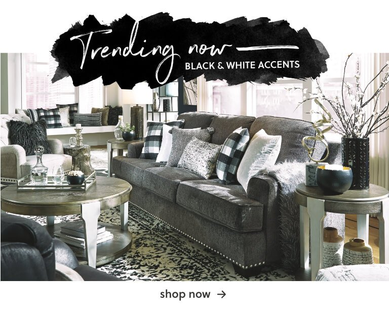 Trending Now: Black and White Accents