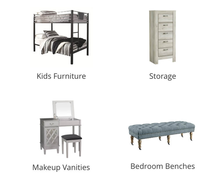 Kids Bedroom, Makeup Vanities, Storage Bedroom Benches