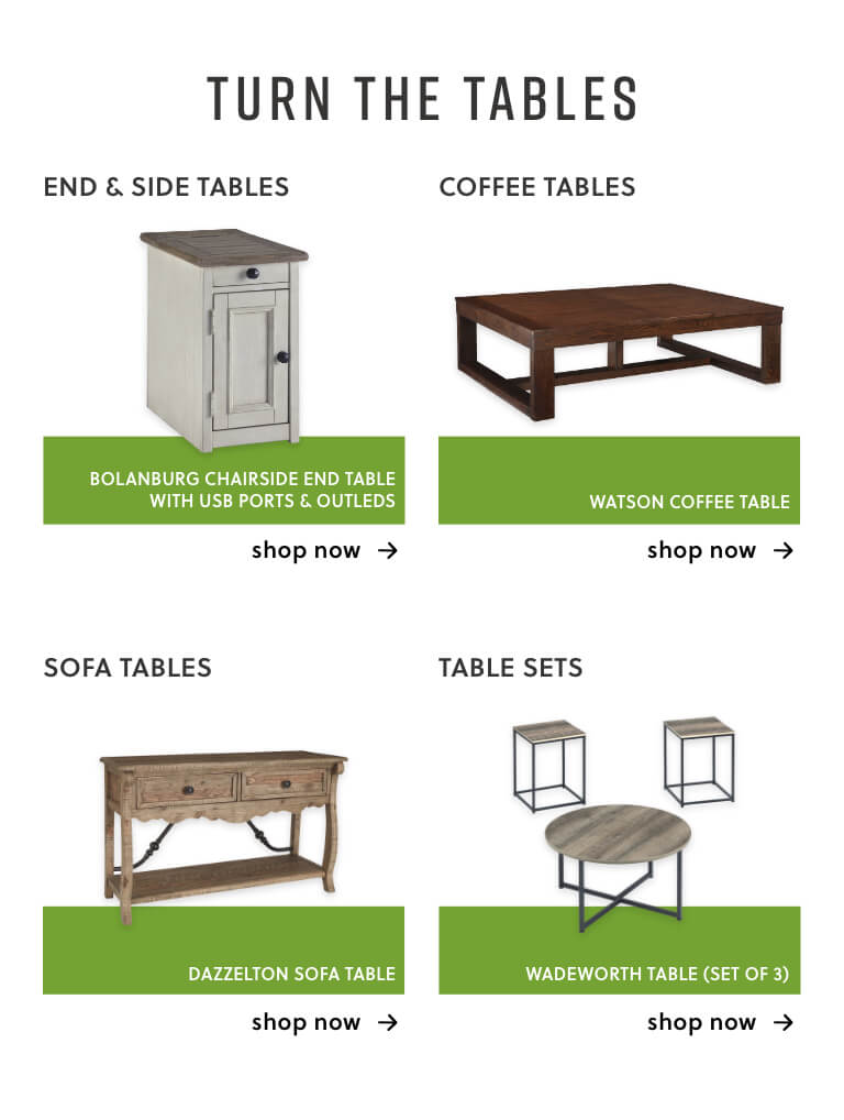 End & Sofa Tables, Coffee Tables, Sofa Tables, Table Sets