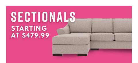Sectionals starting at $479.99