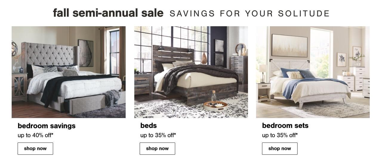 Beds, Nightstands, Bedroom price cuts