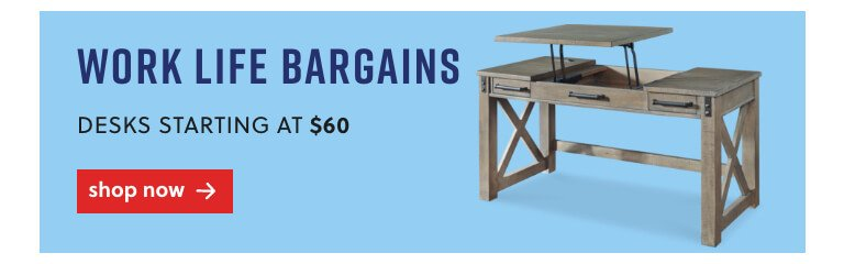 Desks starting at $65