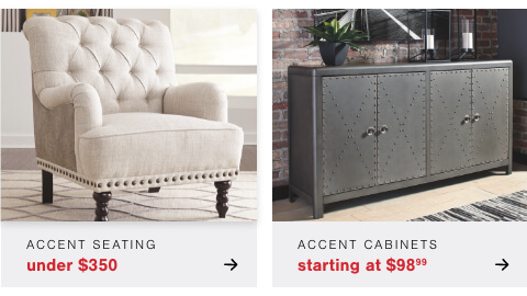 Accent Cabinets s/a $95.99       , HAccent Seating under $350