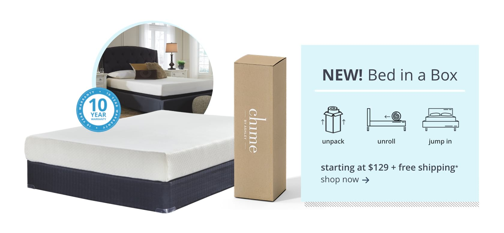 Ashley Sleep Memory Foam - Bed in a Box