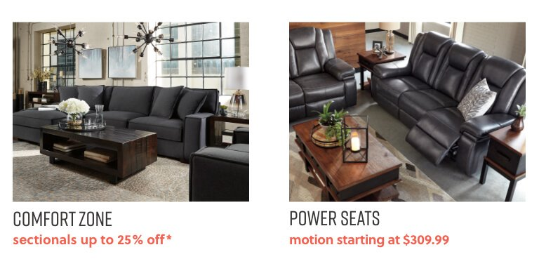 Sectionals Up to 25% Off,Power Furniture Starting at $309.99