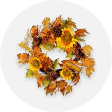 wreaths, garlands & flowers