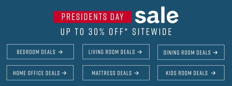 Presidents' Day Sale up to 30% off* sitewide
