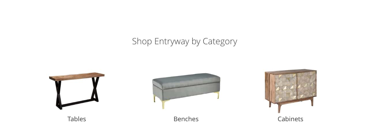 Entryway Tables, Benches, Cabinets