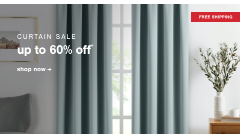 Curtain Sale Up to 60% Off + Free Shipping