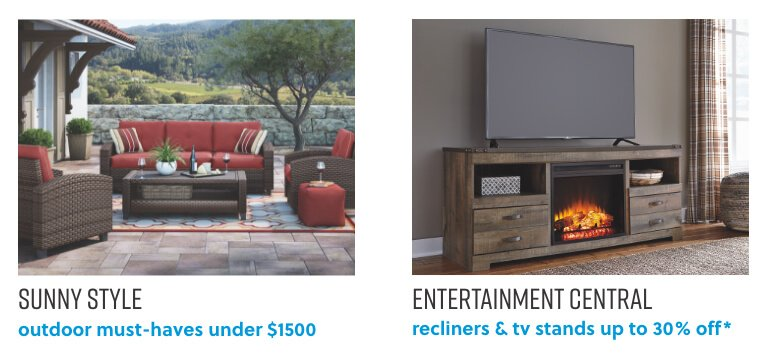 Outdoor Furniture Deals, Recliners and TV Stands