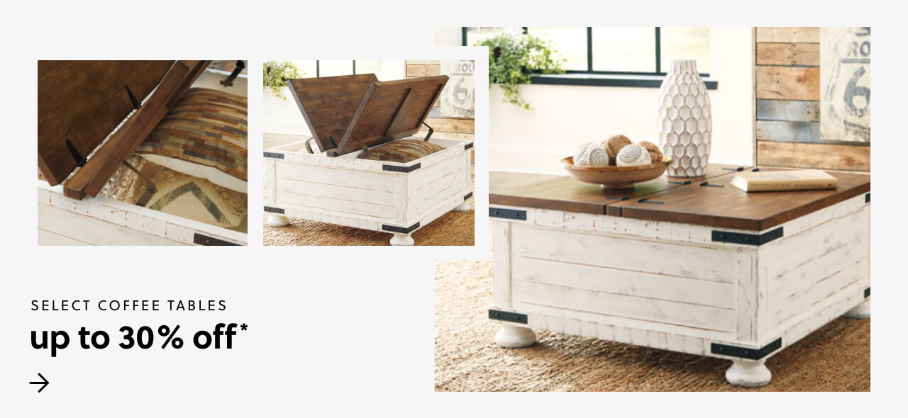 Select Coffee Tables Up To 30% off