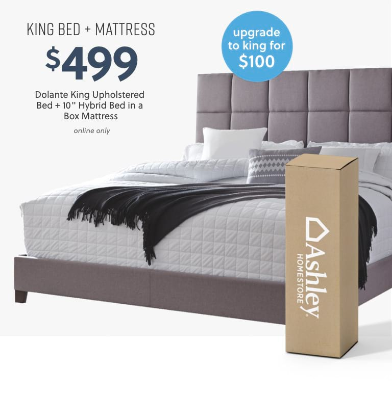 Dolante King Bed plus Mattress