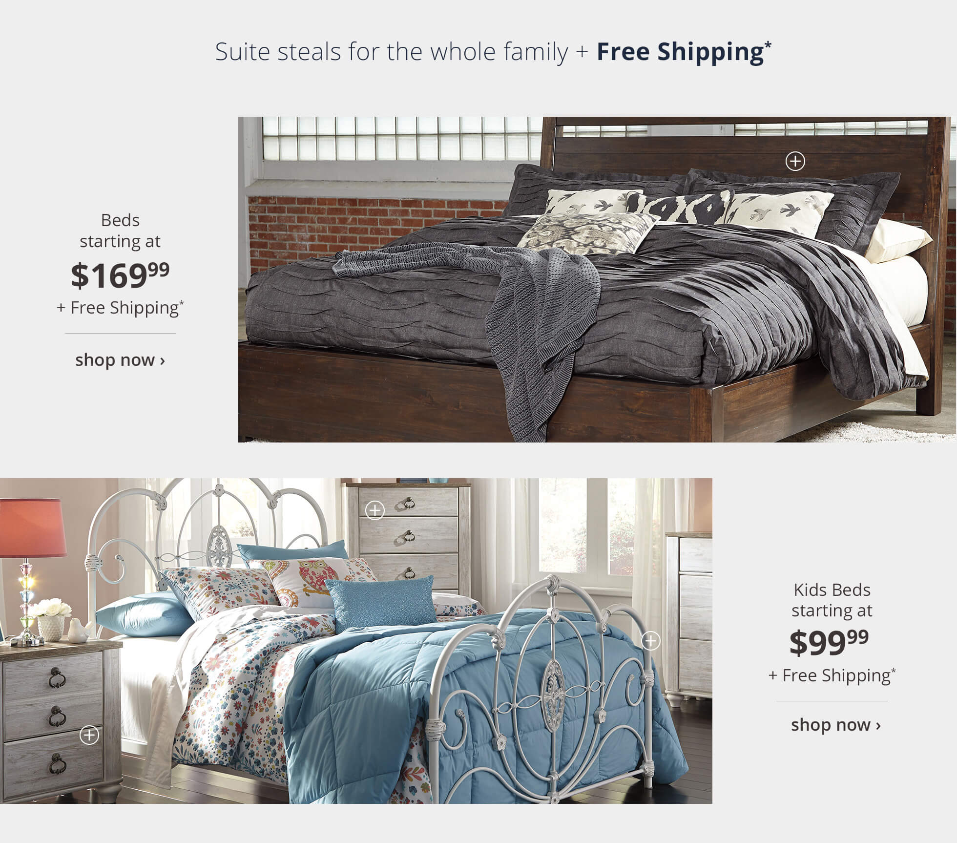 Beds and Kids Bed with Free Shipping