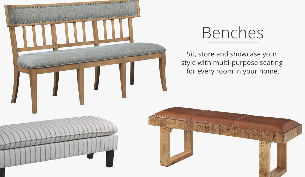 Superieur Benches. Discover A Way To Fill Your Home With Endless Seating Options That  Show Off Your Style