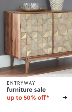 Up to 50% Off* Entryway Furniture