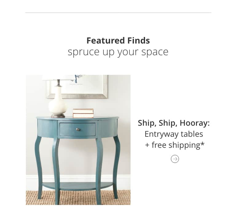 Entryway tables with Free shipping*