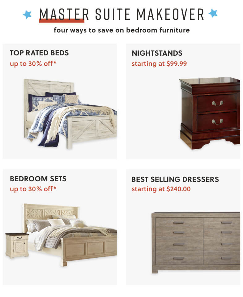 Top Rated Beds, Nightstands, Bedroom Sets, Best Selling Dressers