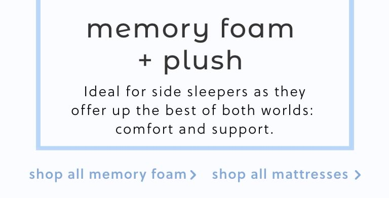 Memory Foam Plush Mattresses