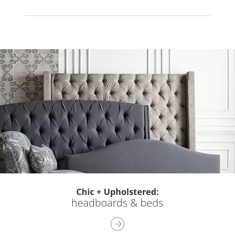 Chic and Upholstered headboard and beds