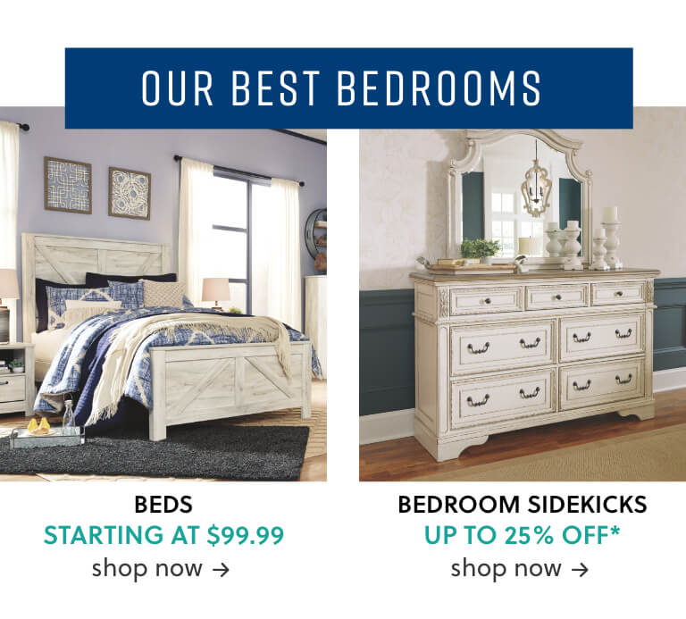 Beds starting at $99, Bedroom Storage
