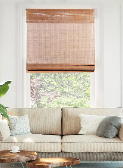woven and bamboo curtains