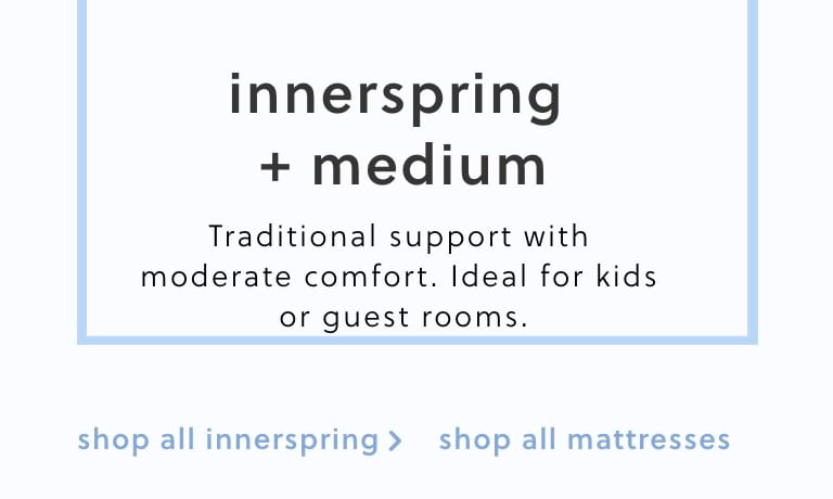 Innerspring Medium Mattresses