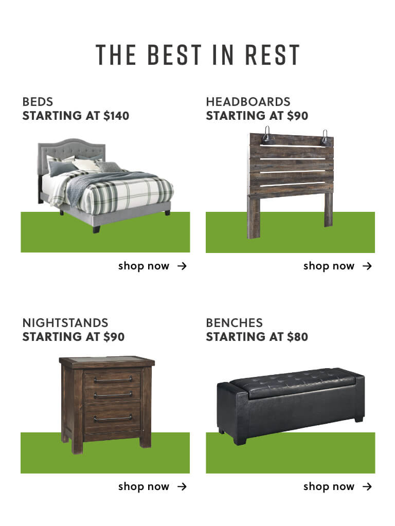 Beds, Headboards, Nightstands, Benches