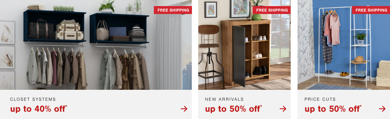 Celebrate Closet Switch Out Season with up to 40% off Closet Systems + Free Shipping
